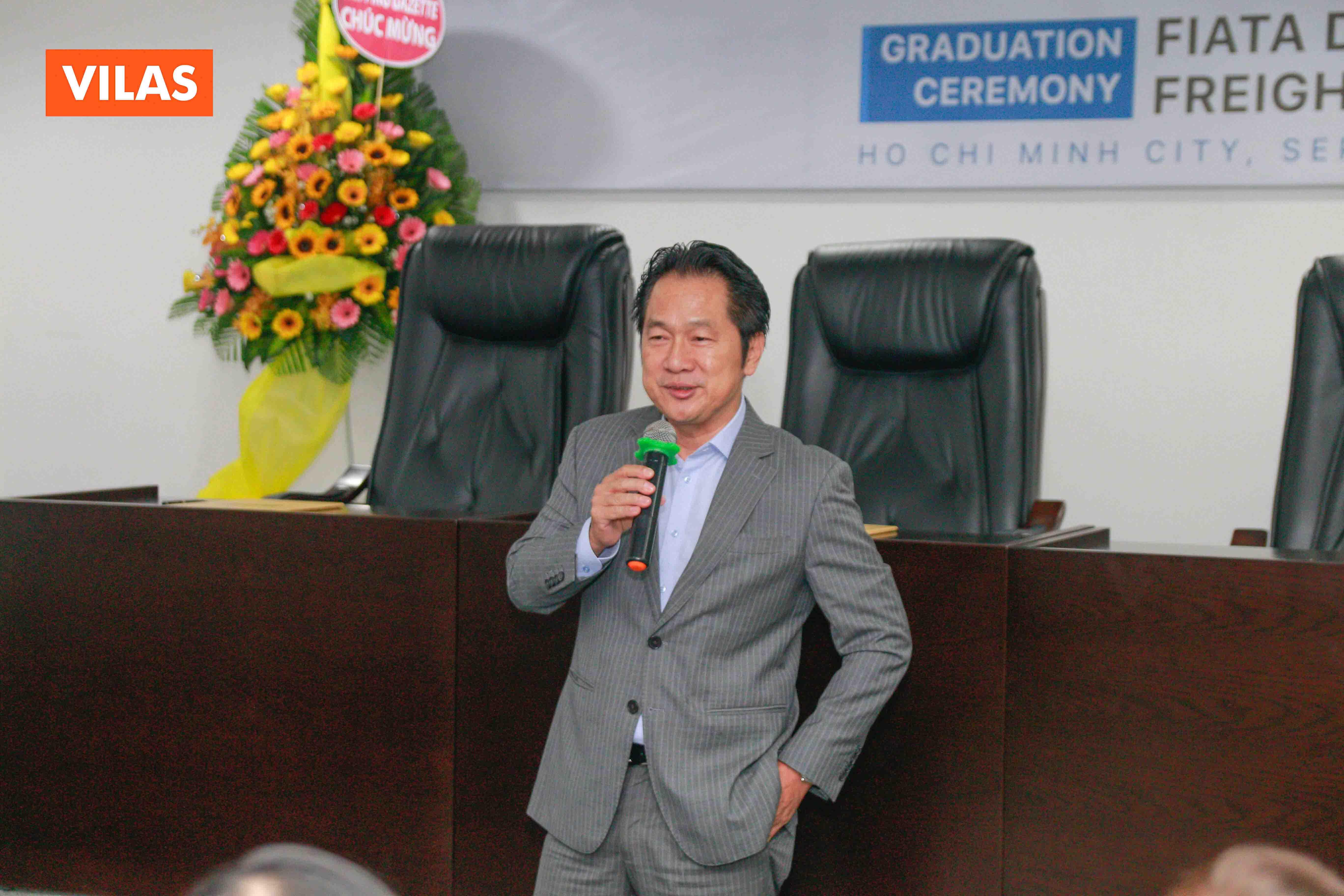 Ông Lê Duy Hiệp khẳng định Hiệp hội và các doanh nghiệp thành viên của VLA sẽ tiếp tục hỗ trợ, tạo điều kiện cho các bạn sinh viên